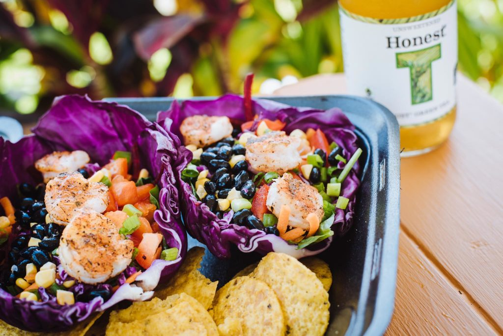 Crave's gluten free option – a purple cabbage wrap