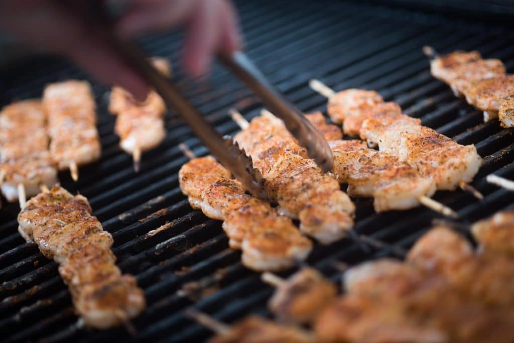 Local St. Augustine shrimp on the grill.