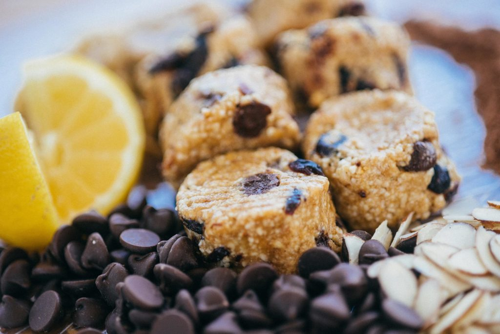 Vegan chocolate chip cookies are made in-house daily.