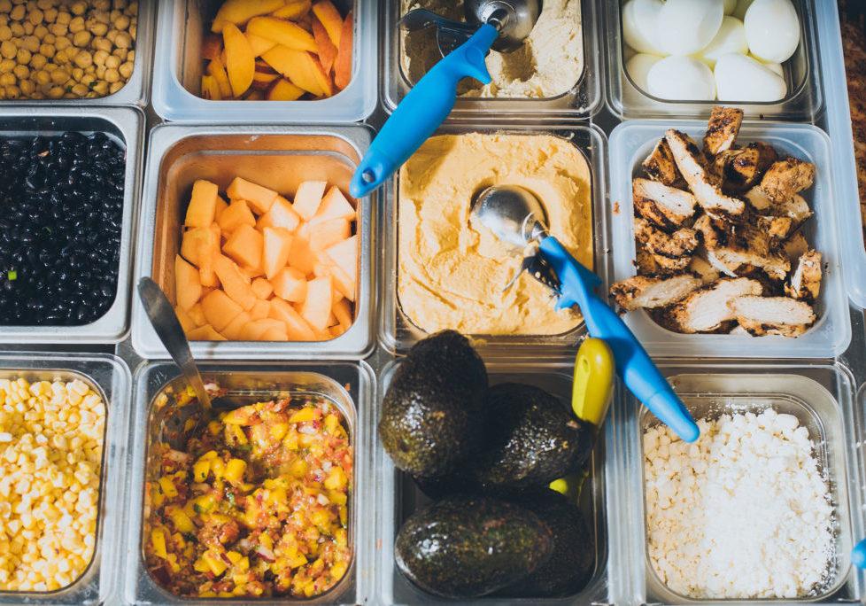 Freshly prepared fruits and vegetables